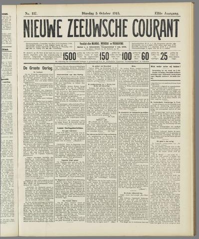 Nieuwe Zeeuwsche Courant 1915-10-05
