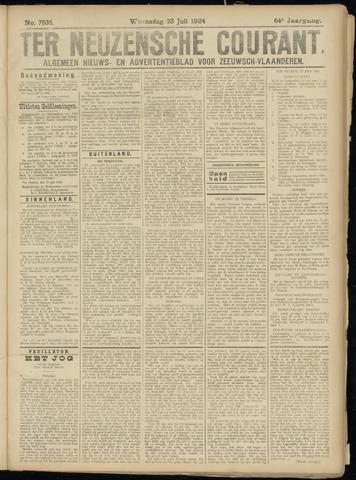 Ter Neuzensche Courant. Algemeen Nieuws- en Advertentieblad voor Zeeuwsch-Vlaanderen / Neuzensche Courant ... (idem) / (Algemeen) nieuws en advertentieblad voor Zeeuwsch-Vlaanderen 1924-07-23