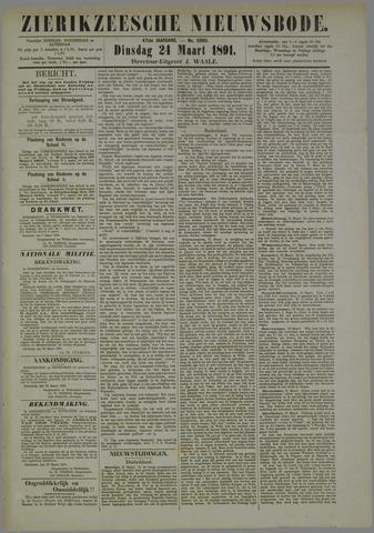 Zierikzeesche Nieuwsbode 1891-03-24