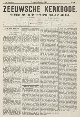 Zeeuwsche kerkbode, weekblad gewijd aan de belangen der gereformeerde kerken/ Zeeuwsch kerkblad 1925-10-16