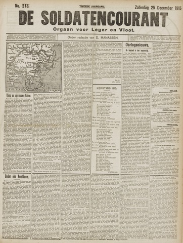 De Soldatencourant. Orgaan voor Leger en Vloot 1915-12-26