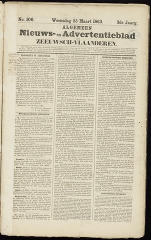Ter Neuzensche Courant. Algemeen Nieuws- en Advertentieblad voor Zeeuwsch-Vlaanderen / Neuzensche Courant ... (idem) / (Algemeen) nieuws en advertentieblad voor Zeeuwsch-Vlaanderen 1863-03-25