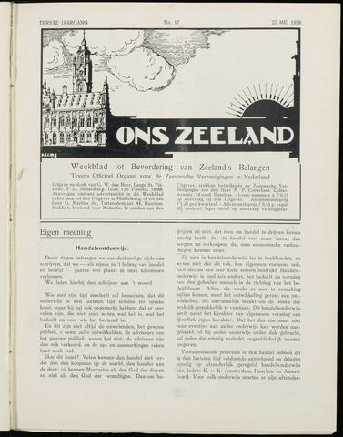 Ons Zeeland / Zeeuwsche editie 1926-05-22