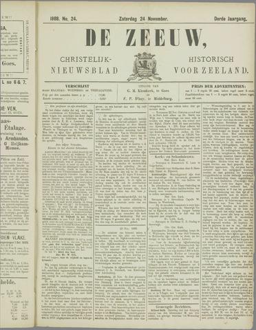 De Zeeuw. Christelijk-historisch nieuwsblad voor Zeeland 1888-11-24