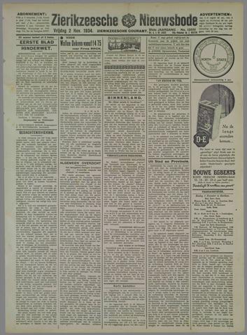 Zierikzeesche Nieuwsbode 1934-11-02