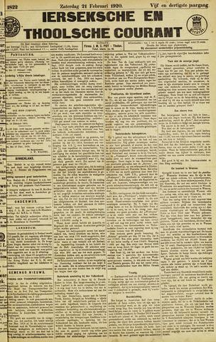 Ierseksche en Thoolsche Courant 1920-02-21