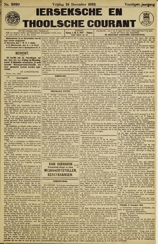Ierseksche en Thoolsche Courant 1923-12-21
