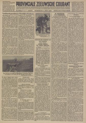 Provinciale Zeeuwse Courant 1942-11-04