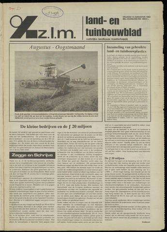Zeeuwsch landbouwblad ... ZLM land- en tuinbouwblad 1982-08-13