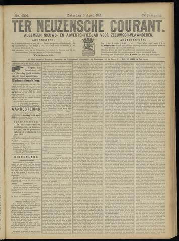 Ter Neuzensche Courant. Algemeen Nieuws- en Advertentieblad voor Zeeuwsch-Vlaanderen / Neuzensche Courant ... (idem) / (Algemeen) nieuws en advertentieblad voor Zeeuwsch-Vlaanderen 1915-04-03
