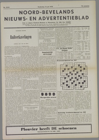 Noord-Bevelands Nieuws- en advertentieblad 1970-07-16