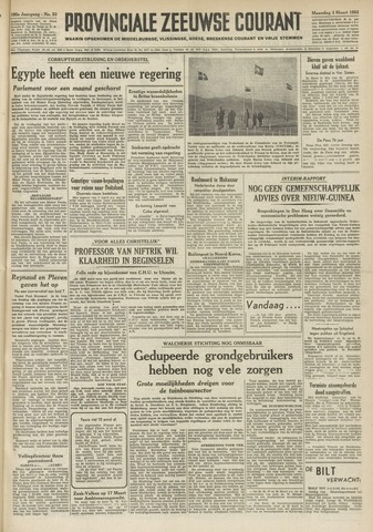 Provinciale Zeeuwse Courant 1952-03-03