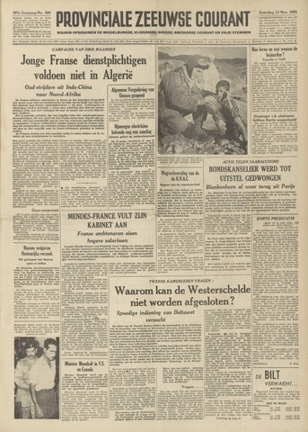 Provinciale Zeeuwse Courant 1954-11-13