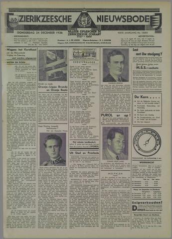Zierikzeesche Nieuwsbode 1936-12-24