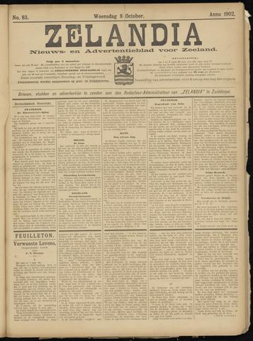Zelandia. Nieuws-en advertentieblad voor Zeeland | edities: Het Land van Hulst en De Vier Ambachten 1902-10-08