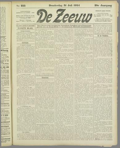 De Zeeuw. Christelijk-historisch nieuwsblad voor Zeeland 1924-07-31