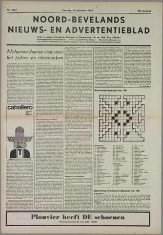 Noord-Bevelands Nieuws- en advertentieblad 1967-09-16