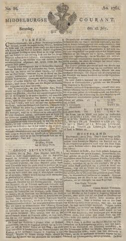 Middelburgsche Courant 1761-07-18