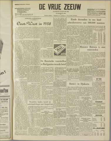 de Vrije Zeeuw 1958-01-11