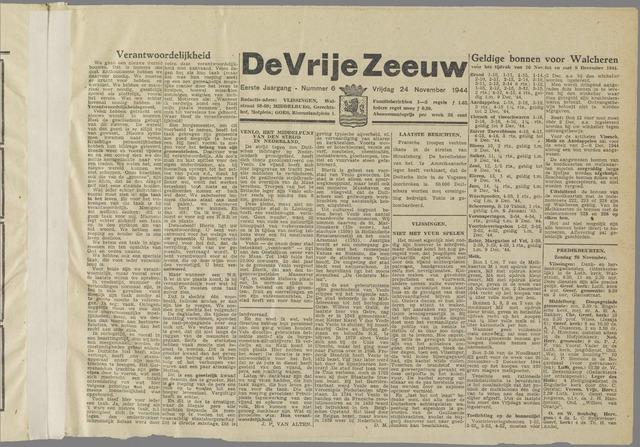 de Vrije Zeeuw 1944-11-24