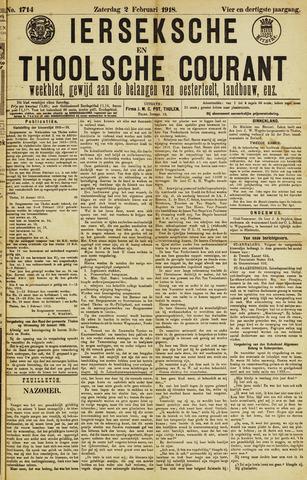 Ierseksche en Thoolsche Courant 1918-02-02