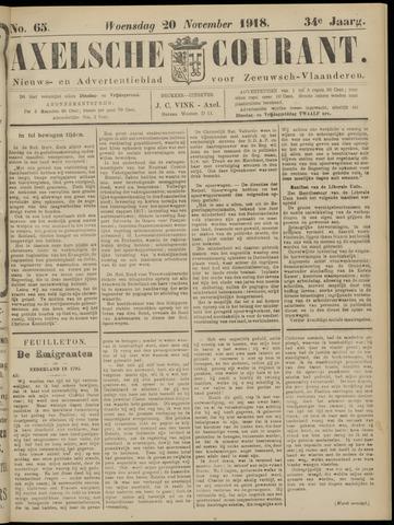 Axelsche Courant 1918-11-20
