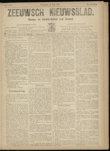 Ter Neuzensch Volksblad. Vrijzinnig nieuws- en advertentieblad voor Zeeuwsch- Vlaanderen / Zeeuwsch Nieuwsblad. Nieuws- en advertentieblad voor Zeeland 1918-07-10