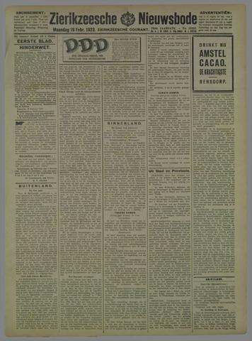 Zierikzeesche Nieuwsbode 1923-02-19
