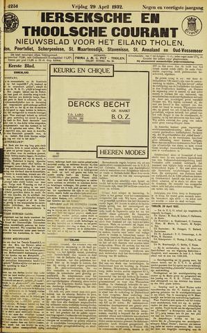 Ierseksche en Thoolsche Courant 1932-04-29
