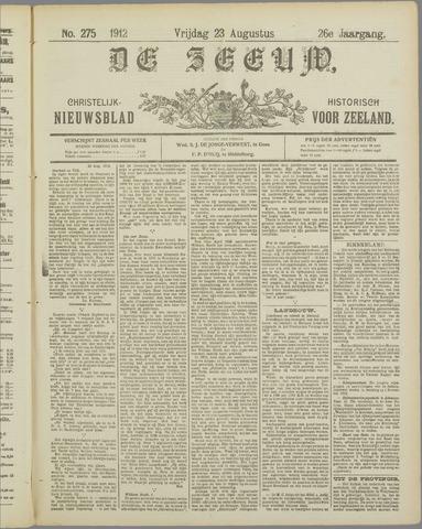 De Zeeuw. Christelijk-historisch nieuwsblad voor Zeeland 1912-08-23