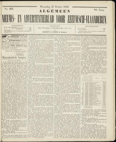 Ter Neuzensche Courant. Algemeen Nieuws- en Advertentieblad voor Zeeuwsch-Vlaanderen / Neuzensche Courant ... (idem) / (Algemeen) nieuws en advertentieblad voor Zeeuwsch-Vlaanderen 1869-10-27