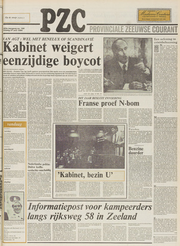 Provinciale Zeeuwse Courant 1980-06-27