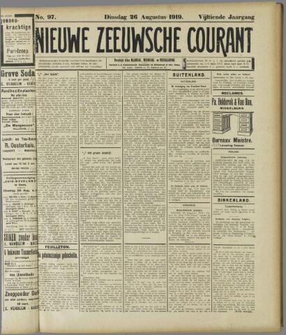 Nieuwe Zeeuwsche Courant 1919-08-26