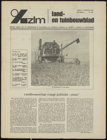 Zeeuwsch landbouwblad ... ZLM land- en tuinbouwblad 1970-08-14