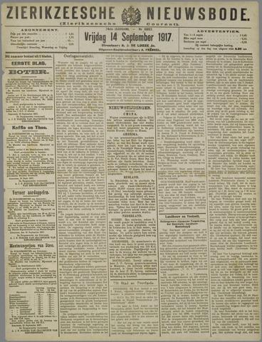 Zierikzeesche Nieuwsbode 1917-09-14