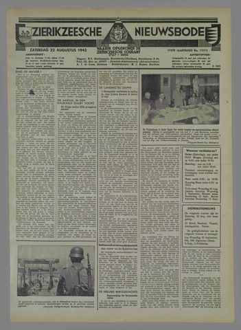 Zierikzeesche Nieuwsbode 1942-08-22