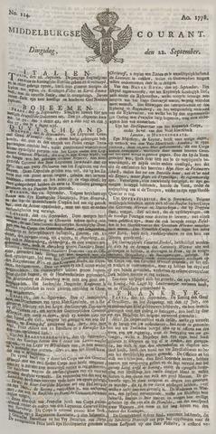 Middelburgsche Courant 1778-09-22