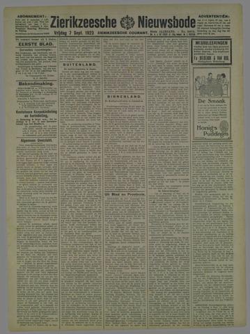 Zierikzeesche Nieuwsbode 1923-09-07