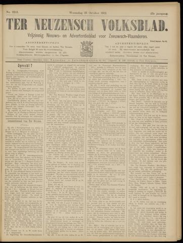 Ter Neuzensch Volksblad. Vrijzinnig nieuws- en advertentieblad voor Zeeuwsch- Vlaanderen / Zeeuwsch Nieuwsblad. Nieuws- en advertentieblad voor Zeeland 1912-10-23
