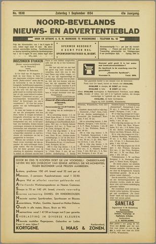Noord-Bevelands Nieuws- en advertentieblad 1934-09-01