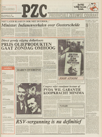 Provinciale Zeeuwse Courant 1981-02-27
