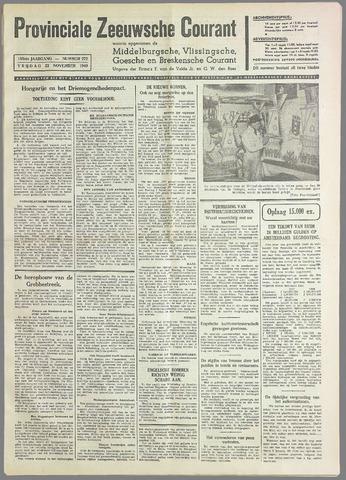 Provinciale Zeeuwse Courant 1940-11-22