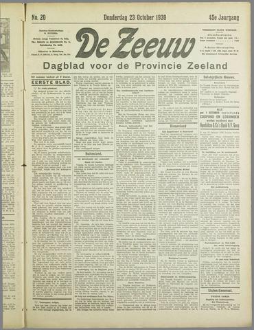 De Zeeuw. Christelijk-historisch nieuwsblad voor Zeeland 1930-10-23