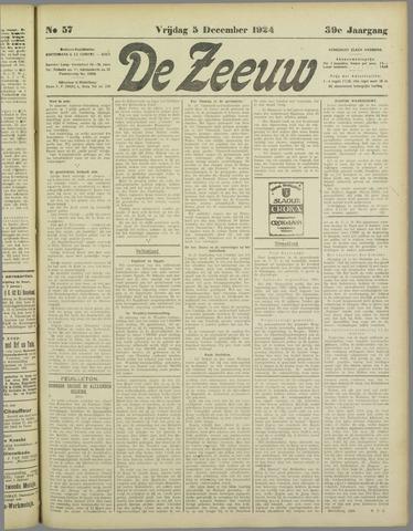De Zeeuw. Christelijk-historisch nieuwsblad voor Zeeland 1924-12-05