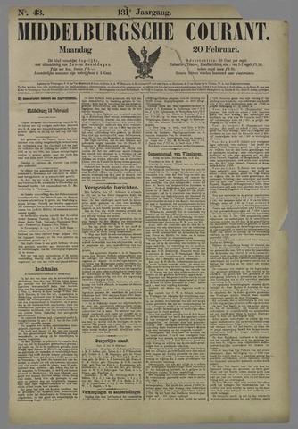 Middelburgsche Courant 1888-02-20