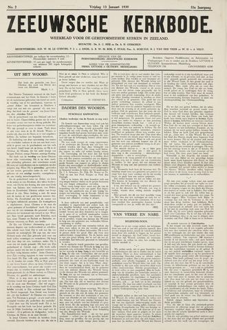 Zeeuwsche kerkbode, weekblad gewijd aan de belangen der gereformeerde kerken/ Zeeuwsch kerkblad 1939-01-13