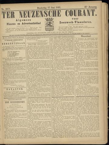 Ter Neuzensche Courant. Algemeen Nieuws- en Advertentieblad voor Zeeuwsch-Vlaanderen / Neuzensche Courant ... (idem) / (Algemeen) nieuws en advertentieblad voor Zeeuwsch-Vlaanderen 1897-06-17
