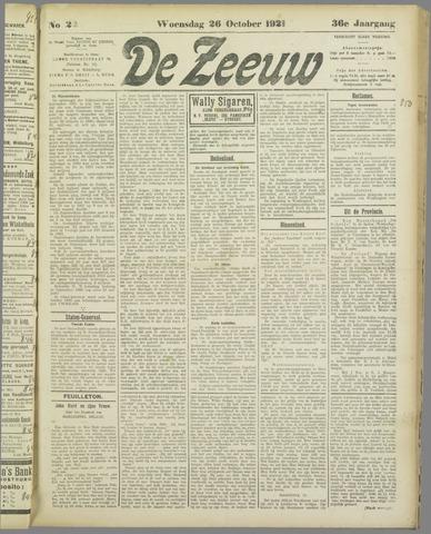 De Zeeuw. Christelijk-historisch nieuwsblad voor Zeeland 1921-10-26