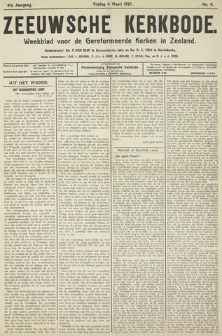 Zeeuwsche kerkbode, weekblad gewijd aan de belangen der gereformeerde kerken/ Zeeuwsch kerkblad 1927-03-04