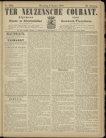 Ter Neuzensche Courant. Algemeen Nieuws- en Advertentieblad voor Zeeuwsch-Vlaanderen / Neuzensche Courant ... (idem) / (Algemeen) nieuws en advertentieblad voor Zeeuwsch-Vlaanderen 1884-10-08
